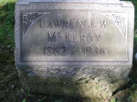 MCELROY, LAWRENCE W - Jefferson County, Ohio   LAWRENCE W MCELROY - Ohio Gravestone Photos