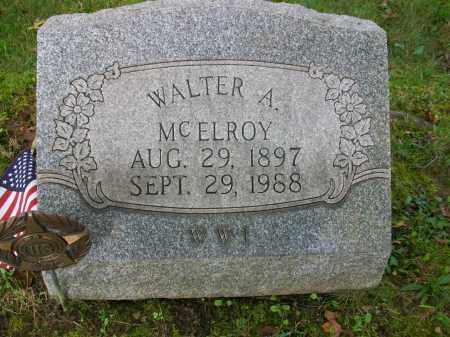 MCELROY, WALTER A - Jefferson County, Ohio | WALTER A MCELROY - Ohio Gravestone Photos