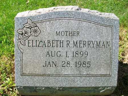 RUNYAN MERRYMAN, ADA ELIZABETH - Jefferson County, Ohio | ADA ELIZABETH RUNYAN MERRYMAN - Ohio Gravestone Photos