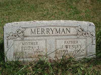 MERRYMAN, ELIZA J. - Jefferson County, Ohio   ELIZA J. MERRYMAN - Ohio Gravestone Photos