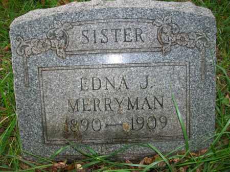 MERRYMAN, EDNA J - Jefferson County, Ohio   EDNA J MERRYMAN - Ohio Gravestone Photos