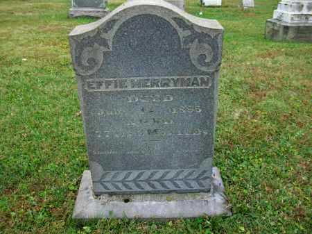 MERRYMAN, EFFIE - Jefferson County, Ohio   EFFIE MERRYMAN - Ohio Gravestone Photos