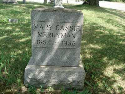 MERRYMAN, MARY CASSIE - Jefferson County, Ohio   MARY CASSIE MERRYMAN - Ohio Gravestone Photos