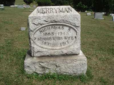 MERRYMAN, NICHOLAS B. - Jefferson County, Ohio | NICHOLAS B. MERRYMAN - Ohio Gravestone Photos