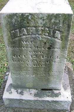 MONTGOMERY, MARTHA - Jefferson County, Ohio   MARTHA MONTGOMERY - Ohio Gravestone Photos