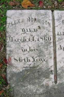 MORRISON, ALEX - Jefferson County, Ohio | ALEX MORRISON - Ohio Gravestone Photos