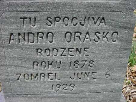 ORASKO, ANDRO - Jefferson County, Ohio   ANDRO ORASKO - Ohio Gravestone Photos