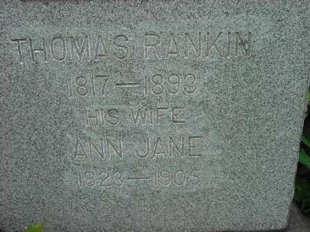 RANKIN, THOMAS - Jefferson County, Ohio | THOMAS RANKIN - Ohio Gravestone Photos