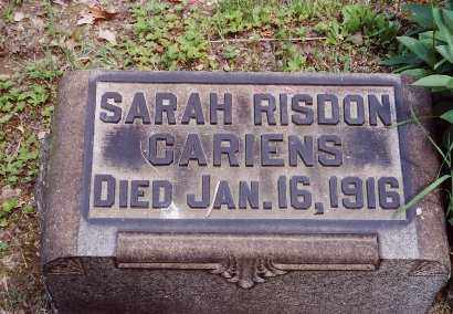 RISDON CARIENS, SARAH - Jefferson County, Ohio | SARAH RISDON CARIENS - Ohio Gravestone Photos