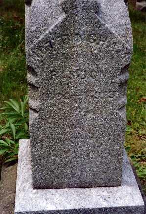 RISDON, NOTTINGHAM - Jefferson County, Ohio | NOTTINGHAM RISDON - Ohio Gravestone Photos