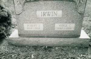 COLLINS VERGE C., IRWIN - Jefferson County, Ohio | IRWIN COLLINS VERGE C. - Ohio Gravestone Photos