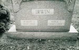 VERGE C., IRWIN - Jefferson County, Ohio | IRWIN VERGE C. - Ohio Gravestone Photos