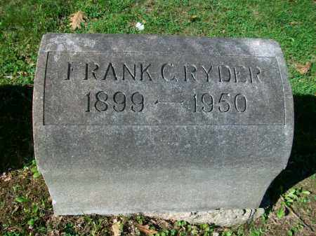 RYDER, FRANK CURTIS - Jefferson County, Ohio | FRANK CURTIS RYDER - Ohio Gravestone Photos