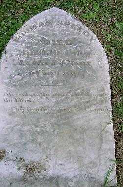SPEEDY, THOMAS - Jefferson County, Ohio | THOMAS SPEEDY - Ohio Gravestone Photos