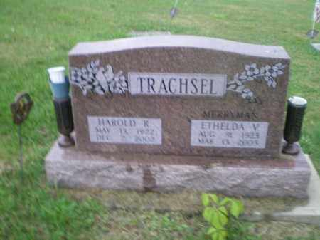 TRACHSEL, HAROLD R - Jefferson County, Ohio | HAROLD R TRACHSEL - Ohio Gravestone Photos
