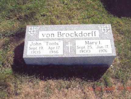 BRINSKEY VON BROCKDORFF, MARY I. - Jefferson County, Ohio | MARY I. BRINSKEY VON BROCKDORFF - Ohio Gravestone Photos