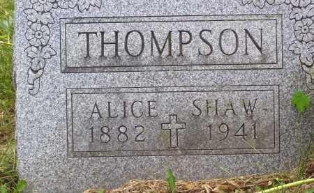 THOMPSON, ALICE - Knox County, Ohio | ALICE THOMPSON - Ohio Gravestone Photos