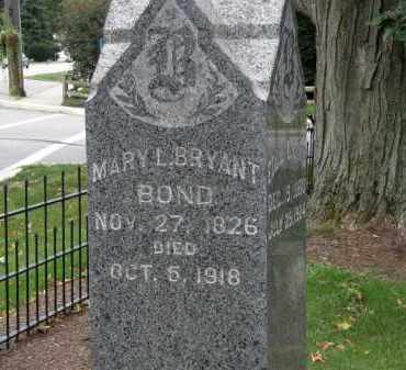 BOND, MARY L. - Lake County, Ohio | MARY L. BOND - Ohio Gravestone Photos