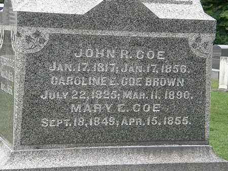 COE, MARY E. - Lake County, Ohio | MARY E. COE - Ohio Gravestone Photos
