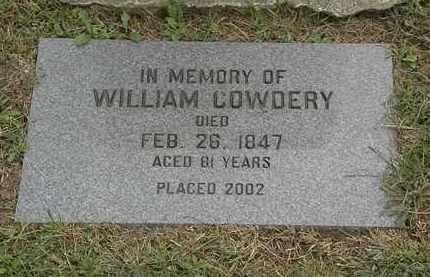 COWDERY, WILLIAM - Lake County, Ohio | WILLIAM COWDERY - Ohio Gravestone Photos