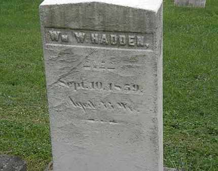 HADDEN, W.W. - Lake County, Ohio   W.W. HADDEN - Ohio Gravestone Photos