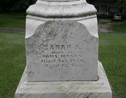 HAYES, SARAH A. - Lake County, Ohio | SARAH A. HAYES - Ohio Gravestone Photos