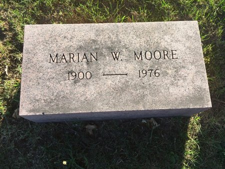 MOORE, MARIAN W. - Lake County, Ohio | MARIAN W. MOORE - Ohio Gravestone Photos