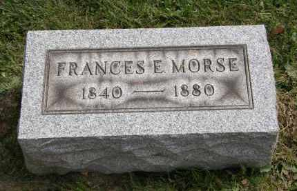 MORSE, FRANCES E - Lake County, Ohio | FRANCES E MORSE - Ohio Gravestone Photos