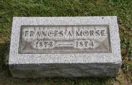 MORSE, FRANCES A. - Lake County, Ohio | FRANCES A. MORSE - Ohio Gravestone Photos