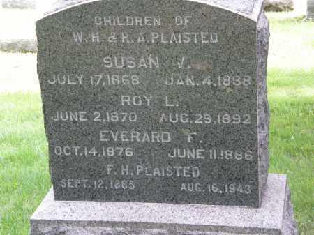 PLAISTED, EVERARD F. - Lake County, Ohio | EVERARD F. PLAISTED - Ohio Gravestone Photos