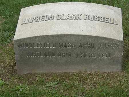 RUSSELL, ALPHEUS CLARK - Lake County, Ohio   ALPHEUS CLARK RUSSELL - Ohio Gravestone Photos