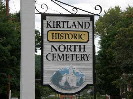 SIGN, NORTH KIRTLAND CEMETERY - Lake County, Ohio | NORTH KIRTLAND CEMETERY SIGN - Ohio Gravestone Photos