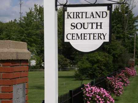 SIGN, CEMETERY - Lake County, Ohio   CEMETERY SIGN - Ohio Gravestone Photos
