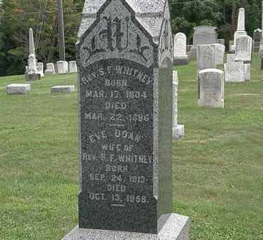 WHITNEY, REV. S.F. - Lake County, Ohio | REV. S.F. WHITNEY - Ohio Gravestone Photos