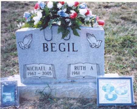 BEGIL, RUTH A. - Lawrence County, Ohio | RUTH A. BEGIL - Ohio Gravestone Photos
