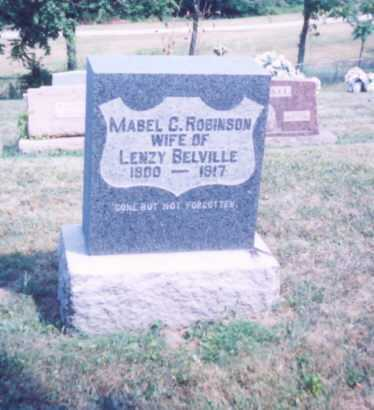 ROBINSON BELVILLE, MABEL C. - Lawrence County, Ohio | MABEL C. ROBINSON BELVILLE - Ohio Gravestone Photos