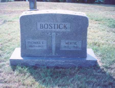 BOSTICK, THOMAS E. - Lawrence County, Ohio | THOMAS E. BOSTICK - Ohio Gravestone Photos