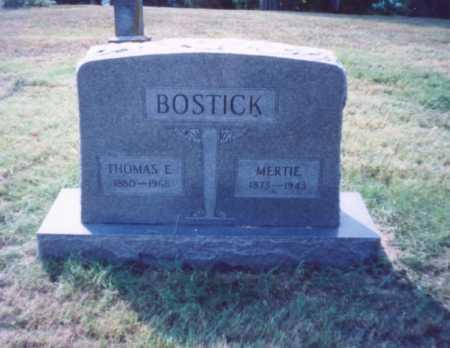 BOSTICK, MERTIE - Lawrence County, Ohio   MERTIE BOSTICK - Ohio Gravestone Photos