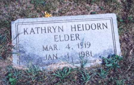 HEIDORN ELDER, KATHRYN - Lawrence County, Ohio | KATHRYN HEIDORN ELDER - Ohio Gravestone Photos