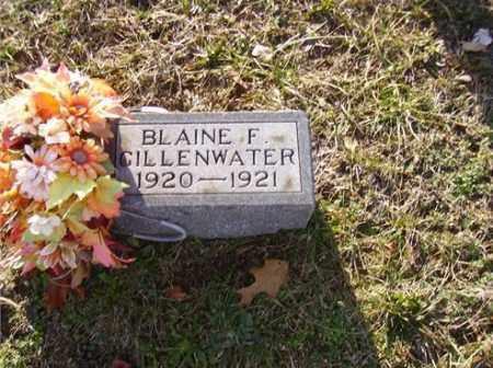 GILLENWATER, BLAINE - Lawrence County, Ohio   BLAINE GILLENWATER - Ohio Gravestone Photos