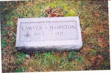 HAIRSTON, LAWYER S. - Lawrence County, Ohio | LAWYER S. HAIRSTON - Ohio Gravestone Photos
