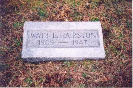 HAIRSTON, WATT E. - Lawrence County, Ohio   WATT E. HAIRSTON - Ohio Gravestone Photos