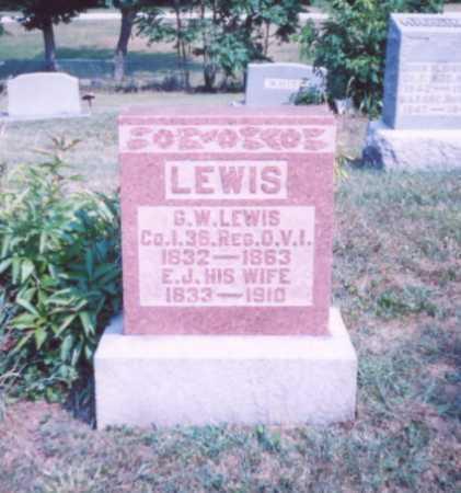 LEWIS, G. W. - Lawrence County, Ohio | G. W. LEWIS - Ohio Gravestone Photos