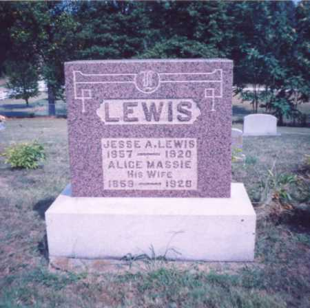 MASSIE LEWIS, ALICE - Lawrence County, Ohio | ALICE MASSIE LEWIS - Ohio Gravestone Photos
