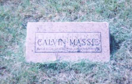 MASSIE, CALVIN (FOOT STONE TO MASSIE STONE) - Lawrence County, Ohio | CALVIN (FOOT STONE TO MASSIE STONE) MASSIE - Ohio Gravestone Photos