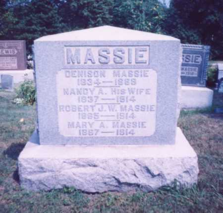 MASSIE, MARY A. - Lawrence County, Ohio | MARY A. MASSIE - Ohio Gravestone Photos