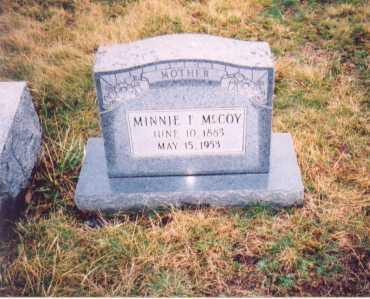 MCCOY, MINNIE F. - Lawrence County, Ohio   MINNIE F. MCCOY - Ohio Gravestone Photos