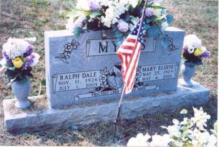 MYERS, RALPH DALE - Lawrence County, Ohio   RALPH DALE MYERS - Ohio Gravestone Photos