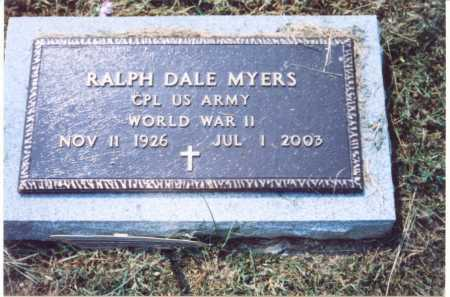 MYERS, RALPH DALE (MILITARY STONE) - Lawrence County, Ohio | RALPH DALE (MILITARY STONE) MYERS - Ohio Gravestone Photos