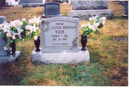 NASH, L. LUCILLE - Lawrence County, Ohio | L. LUCILLE NASH - Ohio Gravestone Photos